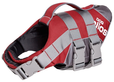 Red Helios Splash-Explore Outer Performance 3M Reflective And Adjustable Buoyant Dog Harness