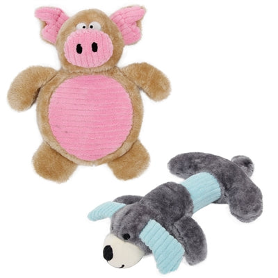 Cozy Play Squeaking Dog Toys, Set Of 2,