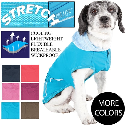 Pet Life® ACTIVE 'Pull-Rover' Premium 4-Way Stretch Two-Toned Performance Sleeveless Dog T-Shirt Tank Top Hoodie