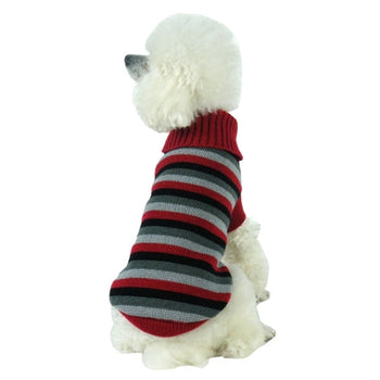 Cable Knit Designer Turtle Neck Dog Sweater