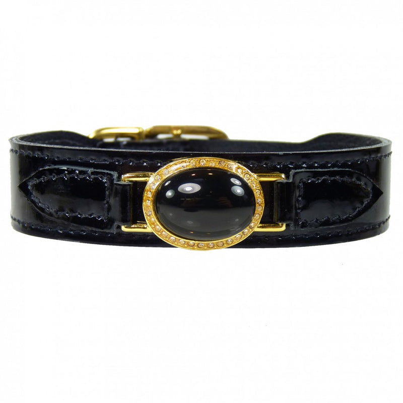 Estate in Black Patent & Gold