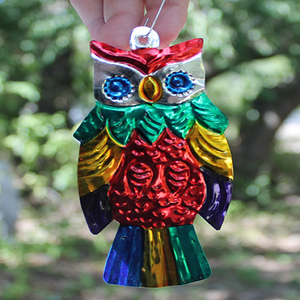 Tin Ornament - owl - Bay Leaf Door