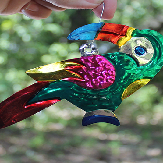 Tin Ornament - tucan - Bay Leaf Door