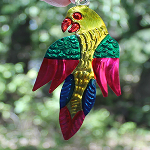 Tin Ornament - parrot - Bay Leaf Door