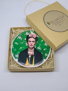 Ceramic Ornament - Frida Kahlo - green