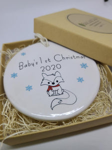 Baby's 1st Christmas Ornament 2020- your choice of image