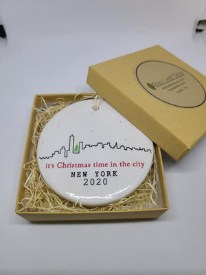 Skyline - Its Christmas time in the city -  Ceramic Ornament - New York 2019