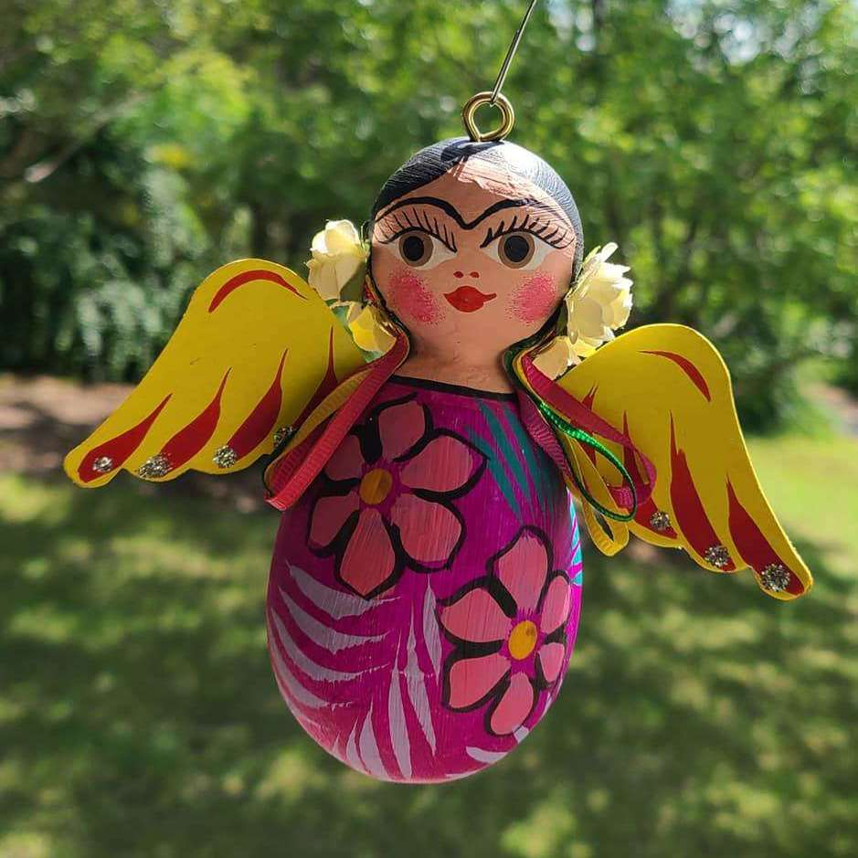 Frida Kahlo Angel Ornament - Bay Leaf Door