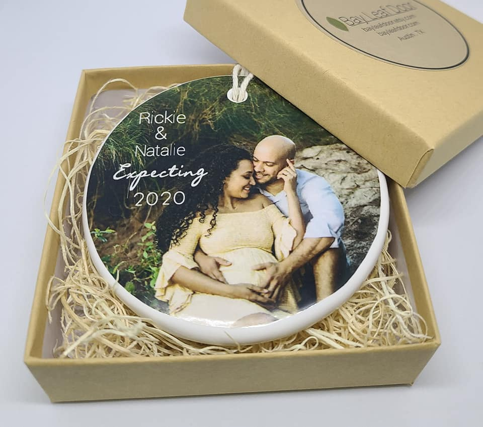 CUSTOM - Expecting Christmas Ornament