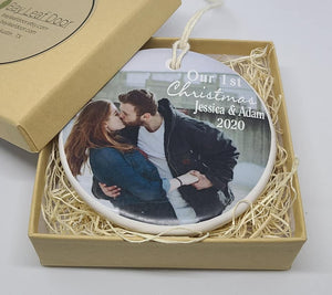 CUSTOM - Our 1st Christmas Ornament - for the dating couple