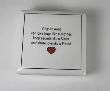 Aunt, Godmother - Keepsake Ceramic Box - Bay Leaf Door