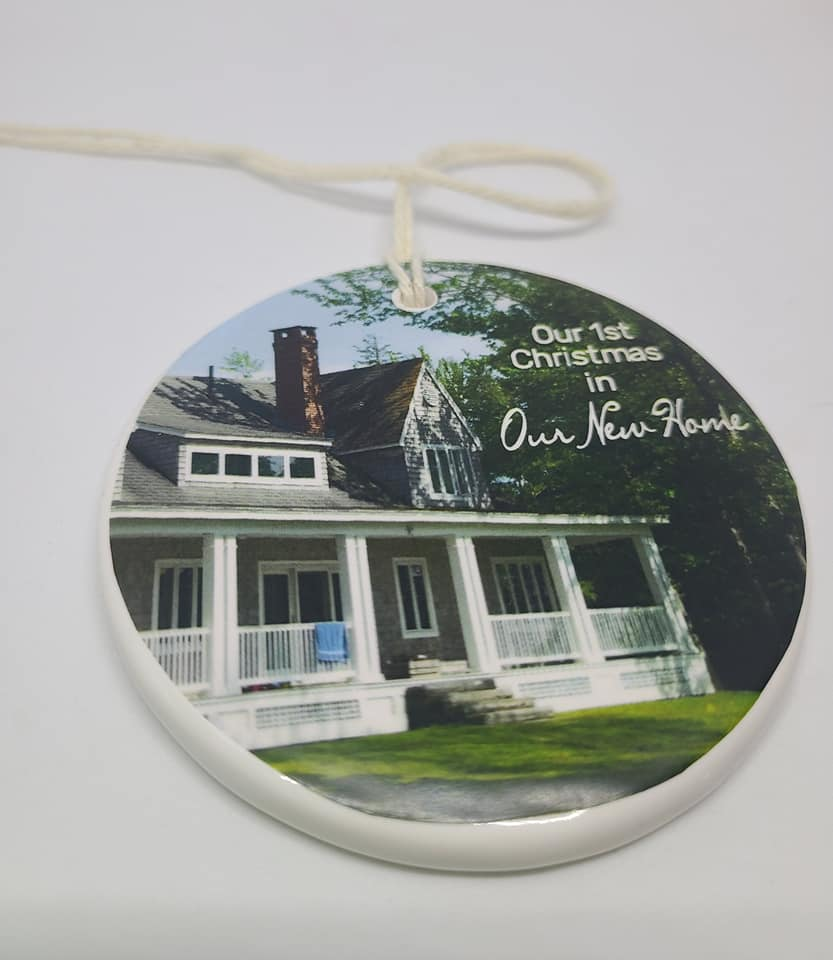 CUSTOM -  Our 1st Christmas in our New Home Ornament - photo - photo of your home and year