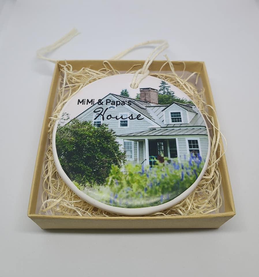 CUSTOM -  Our 1st Apartment Ornament - photo - your names and year
