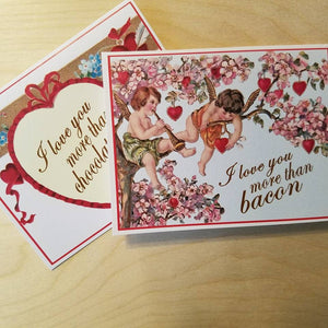 Vintage Inspired Valentine Card - Your Design Choice - Bay Leaf Door