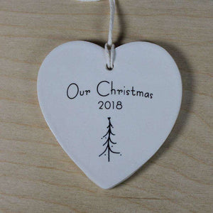 Our Christmas Ornament - single tree 2019 - Bay Leaf Door