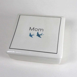 Mom - Keepsake Ceramic Box - Bay Leaf Door
