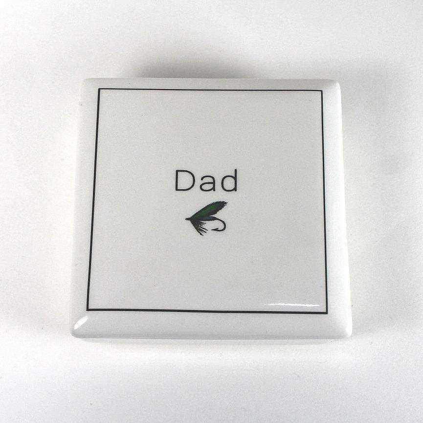 Dad - Keepsake Ceramic Box - Bay Leaf Door