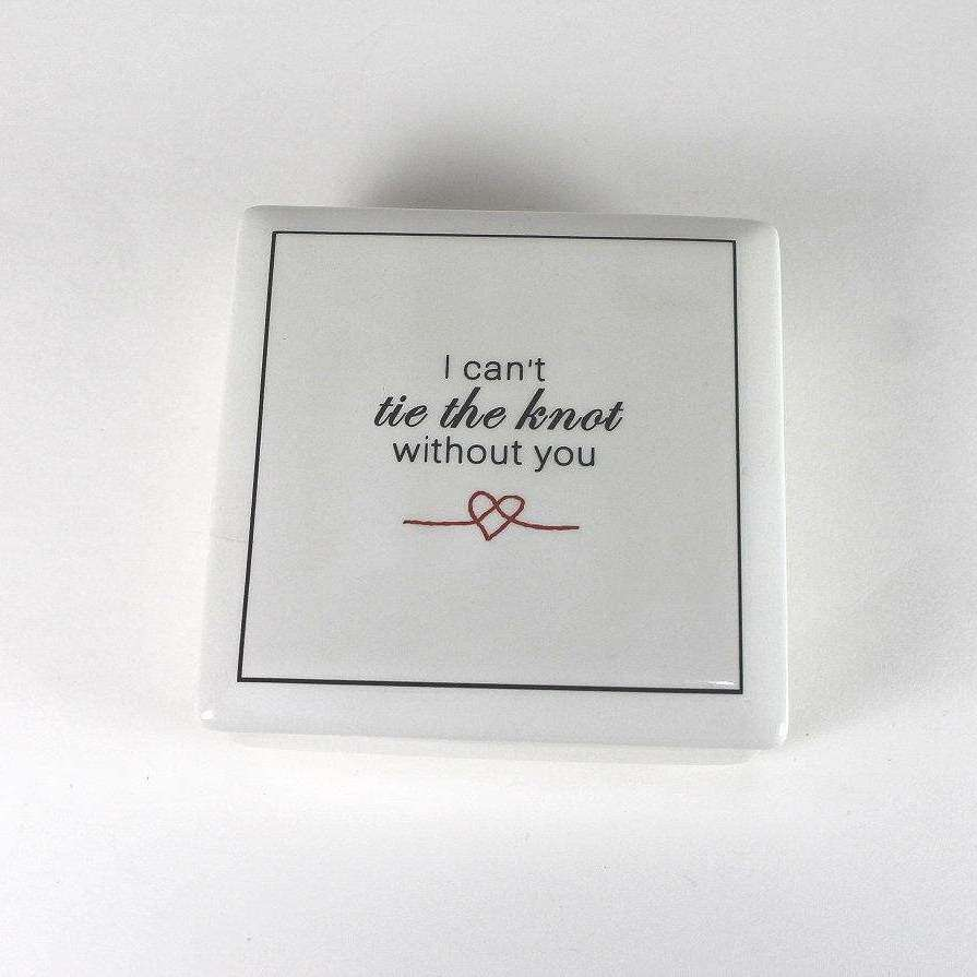 Bridesmaid - Keepsake Ceramic Box - Bay Leaf Door