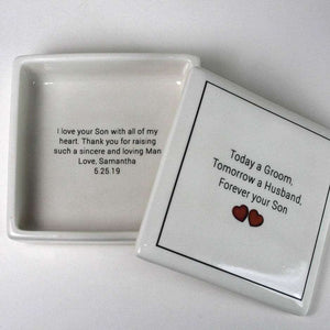 Mother of the Groom - Keepsake Ceramic Box - Bay Leaf Door