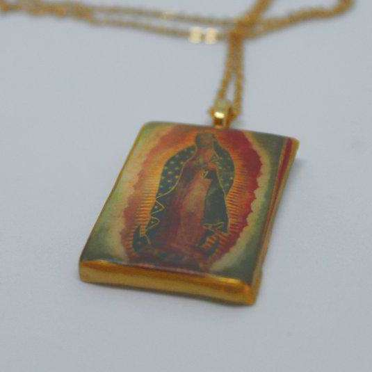 Necklace - Our Lady of Guadalupe - gold - Bay Leaf Door