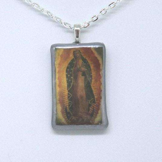 Necklace - Our Lady of Guadalupe - silver - Bay Leaf Door