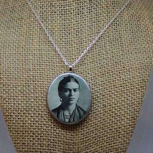 Necklace - Frida Kahlo - early - silver - Bay Leaf Door