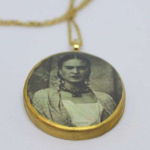 Necklace - Frida Kahlo - early - gold - Bay Leaf Door