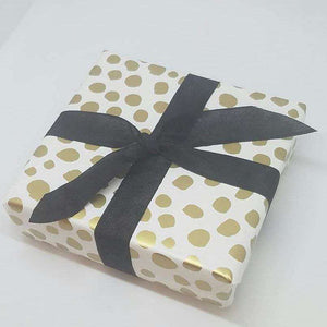Gift Wrap - Gold Accent - have your purchased item gift wrapped by us - Bay Leaf Door
