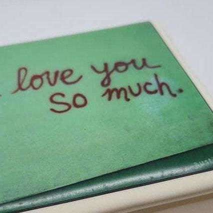 Ceramic Jewelry Box - I love you so much mural Austin Tx - Bay Leaf Door