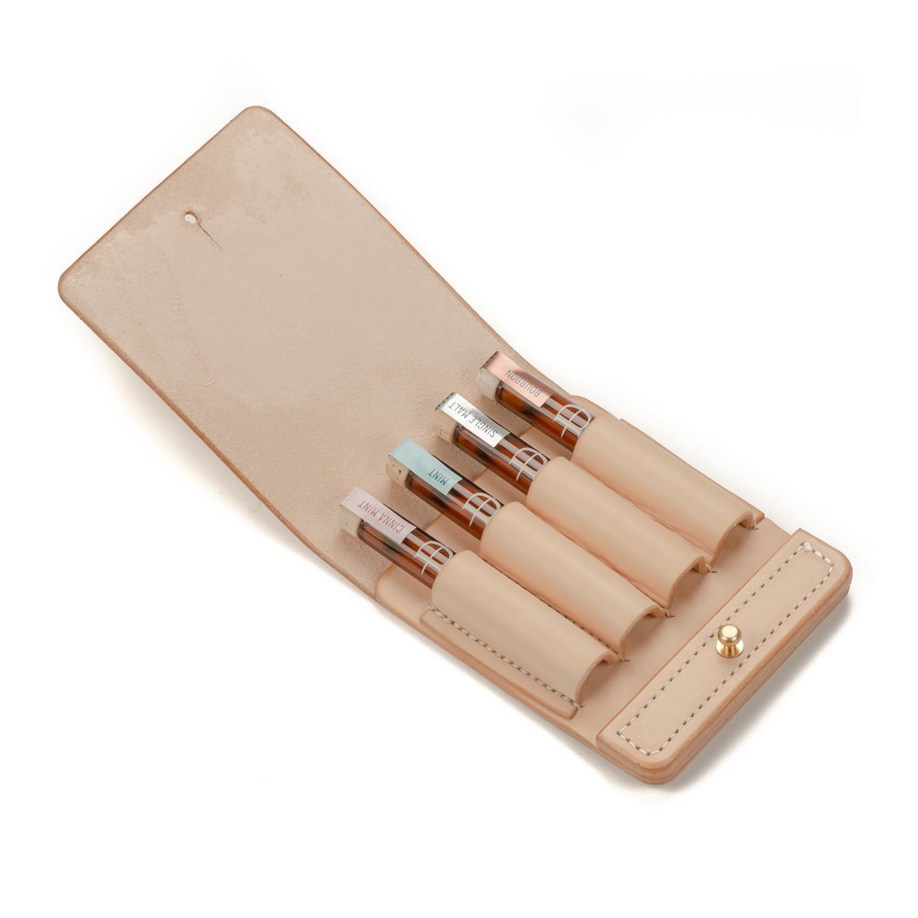 Handmade Four-Finger Veg Tan Leather Case