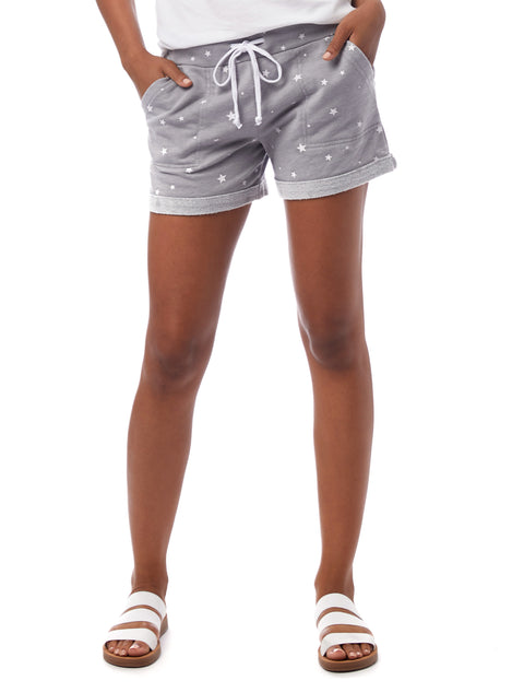 Alternative 'Lounge Printed Burnout French Terry Shorts'