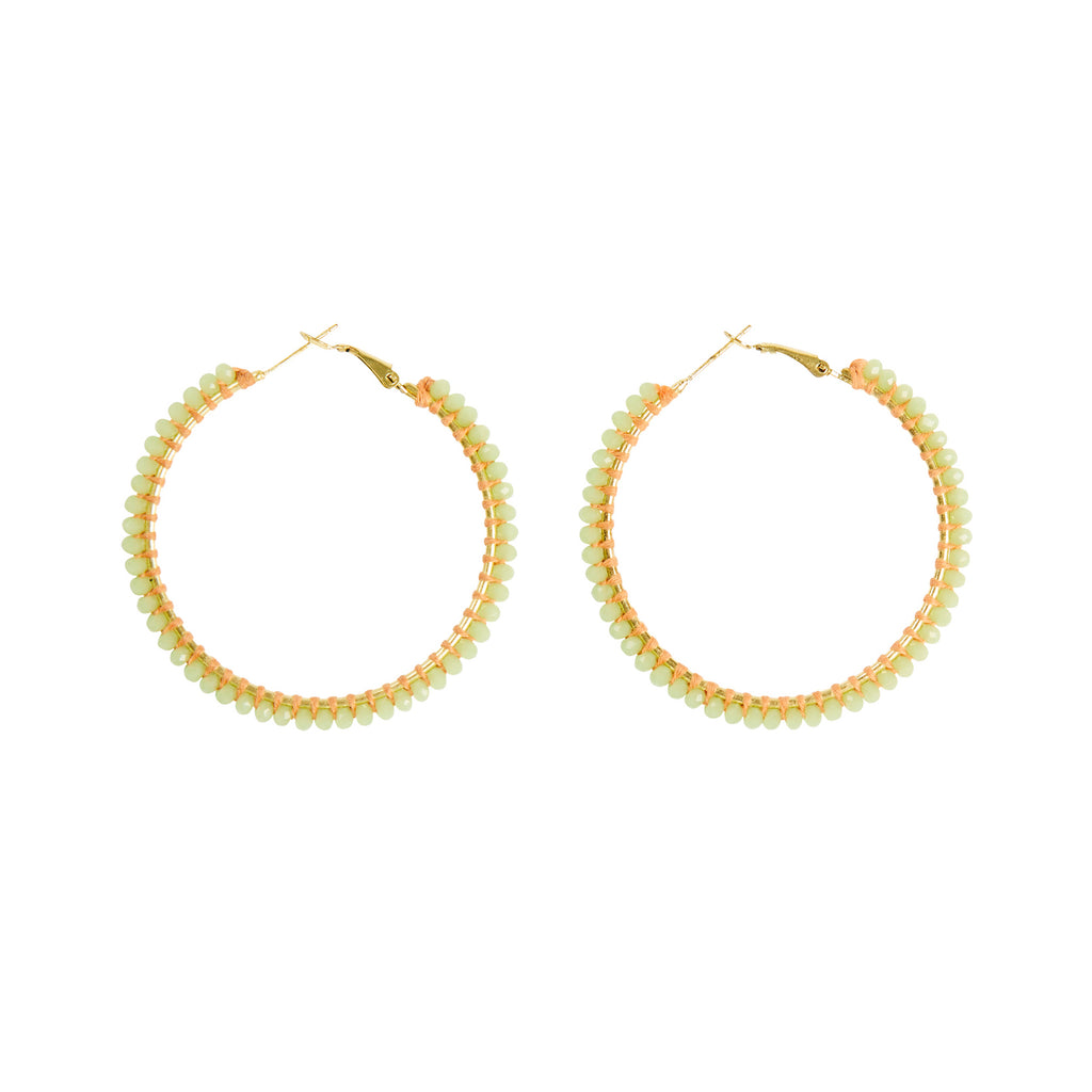 Aster Large Hoop Earrings - Mint