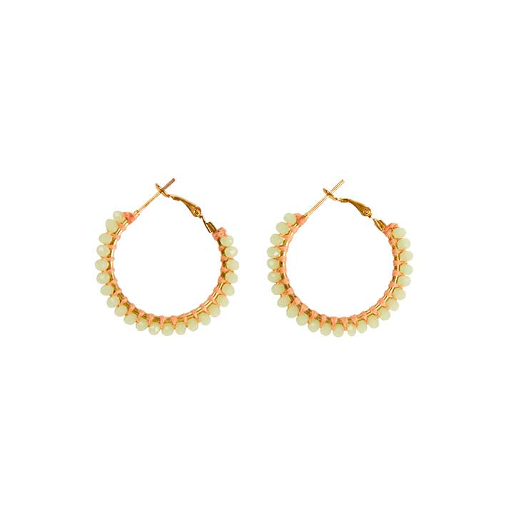 Aster Medium Hoop Earrings - Mint