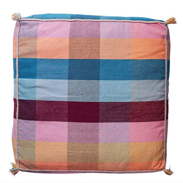 Cova Woven Floor Cushion - Boysenberry
