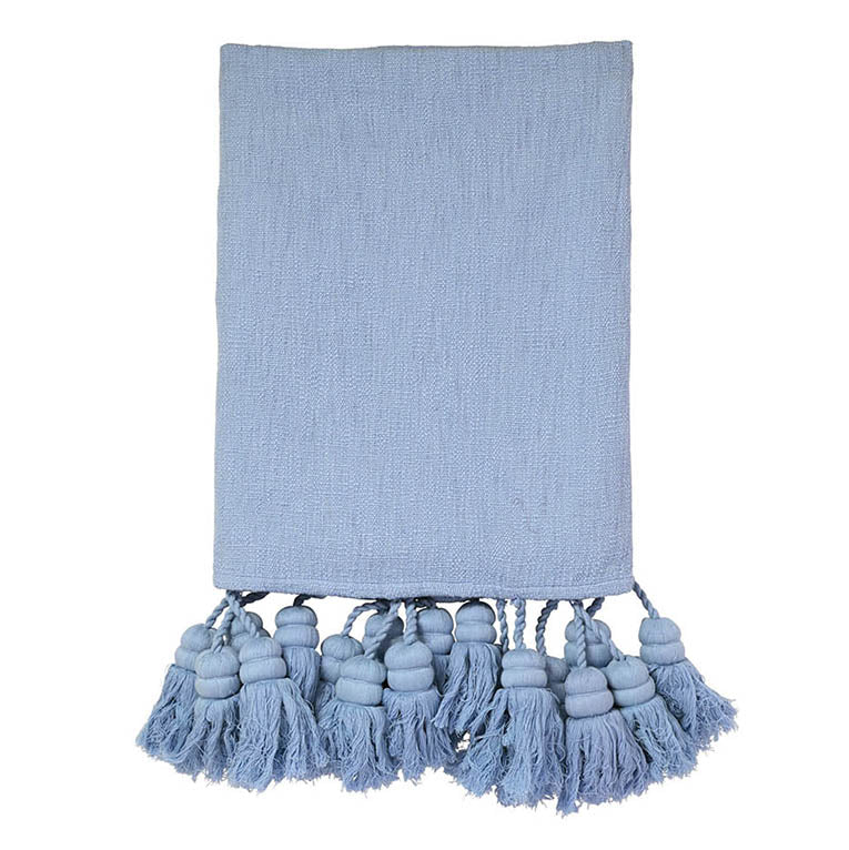 Chambray Tassel Throw