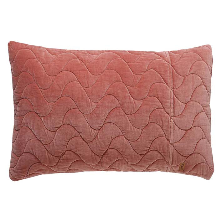 Clay Velvet Quilted Pillowcase Set