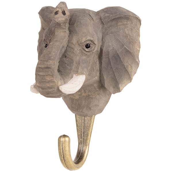 Elephant Carved Animal Hook