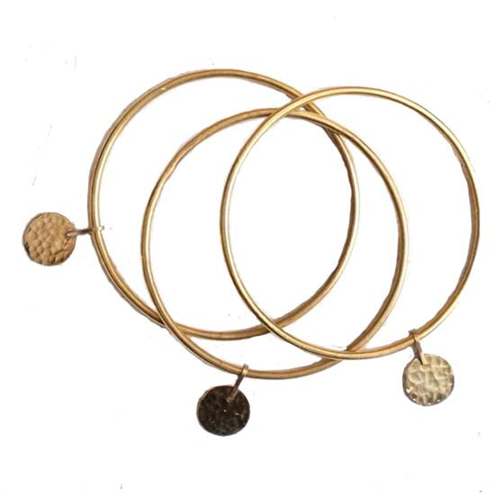 Brass Bangle - set of 3