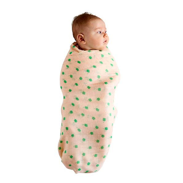 Four Leaf Bamboo Baby Swaddle