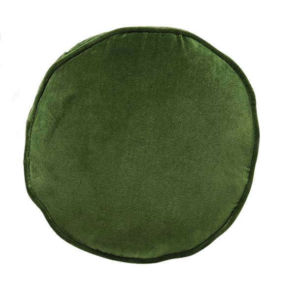 Garden Green Velvet Pea Cushion