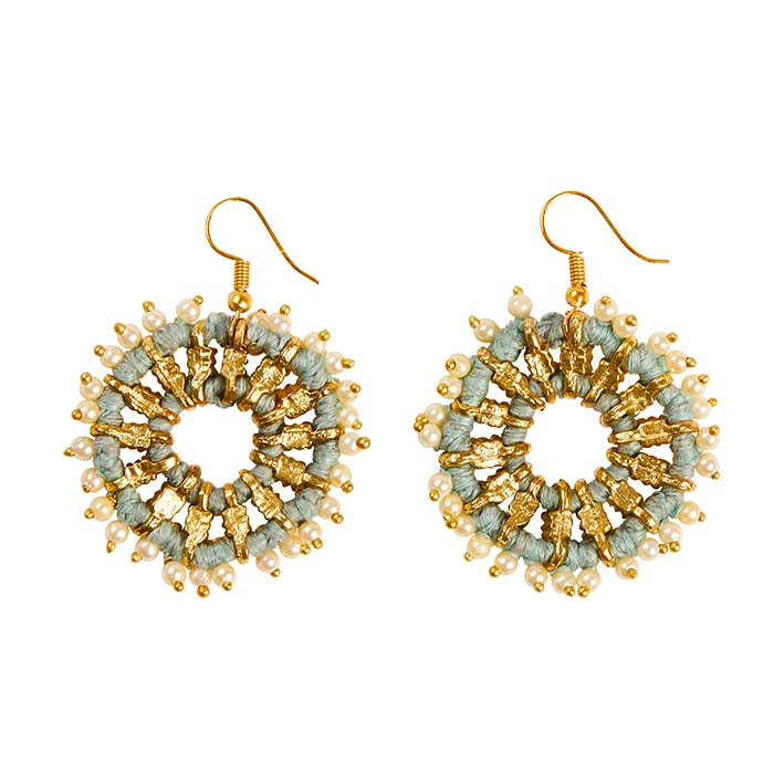 Lantana Earrings - Dusty Blue
