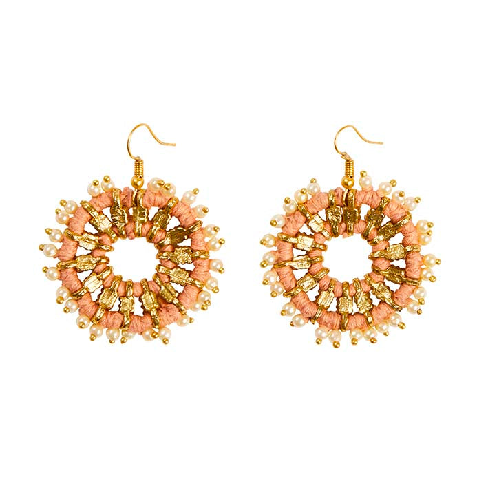 Lantana Earrings - Dusty Pink