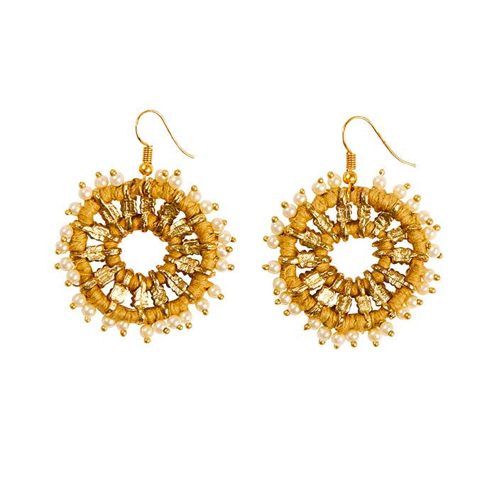 Lantana Earrings - Mustard
