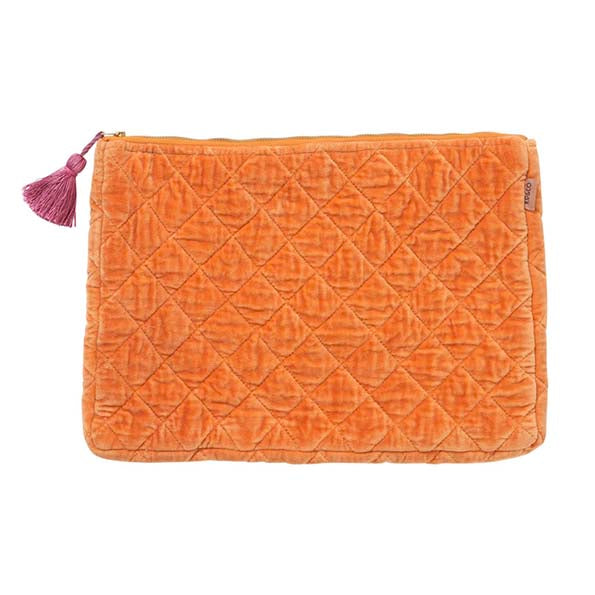 Marmalade Velvet Quilted Laptop/Carry-All Case