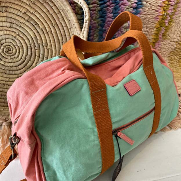 Minty Pink Duffle Bag