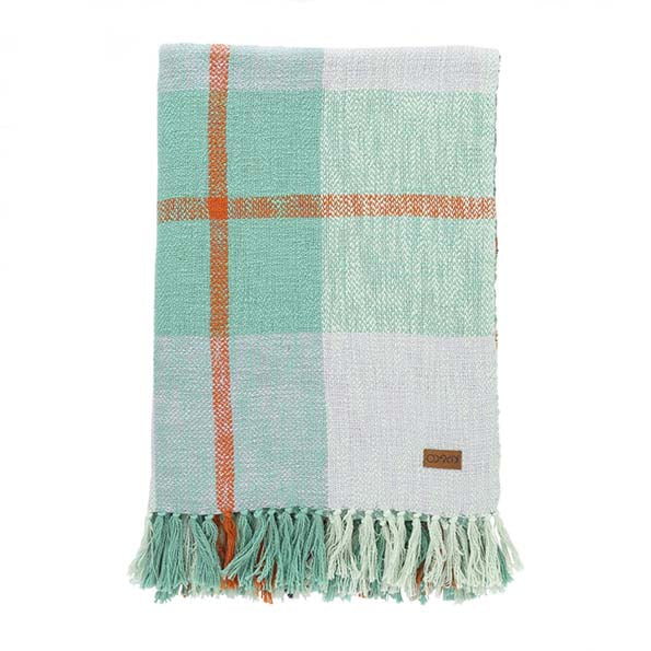 Minty Tartan Throw