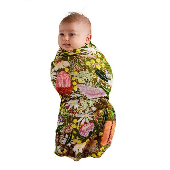Native Plantation Bamboo Baby Swaddle