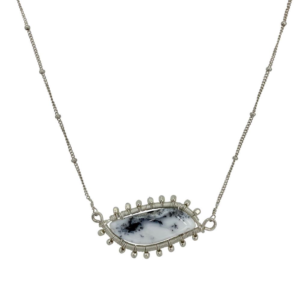 Navah Silver Dendrite Opal Necklace