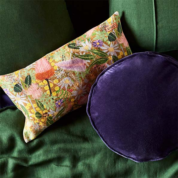 Navy Velvet Pea Cushion