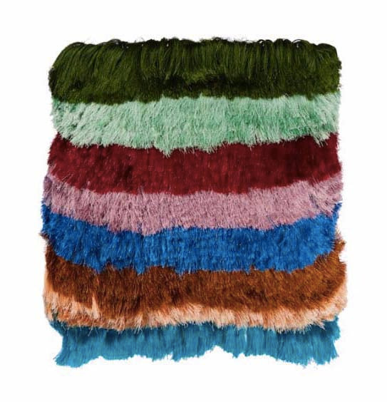 Nusa Fringe Colour Block Cushion